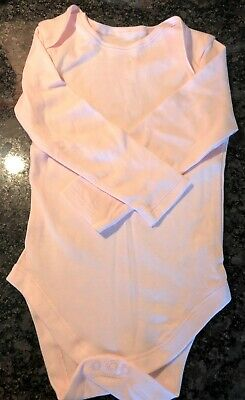 New Exstore Early Days Girls Long Sleeved Baby Pink Vest 100% Cotton 18-24 Mnth