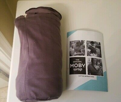 Moby Cotton Baby Carrier Wrap Gray One size fits Most