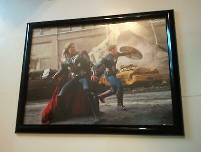 Avengers Poster #197 FRAMED Movie Captain America and Thor Chirs Evans Hemsworth