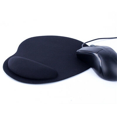 Black Anti-Slip Mouse Mat Pad With Wrist Support Pc & Laptop ~Uk Seller~