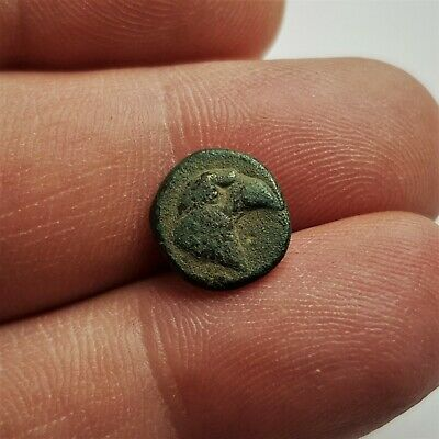 Ancient Greek Аnonymous Bronze Coin AE 11 Around the 4th 3rd century BC.