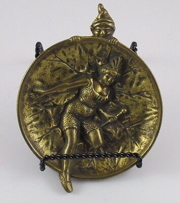 Erotic Elf Spying on a Lady Brass/Bronze Dish or Tray  JZ-0674