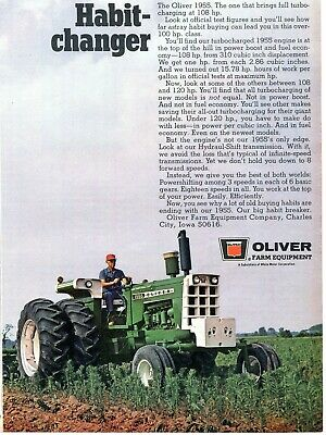 1971 PRINT AD of Oliver 1955 Farm Tractor Habit-Changer on