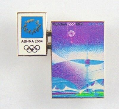 Athens Olympic Games 2004 Pin Badge - Official Poster Pin -  Munich 1972 - Trofe