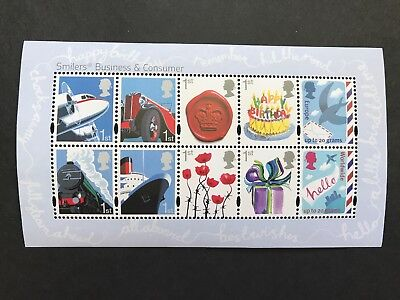GB 2010 Business and Consumer Smilers Mint MNH Miniature Sheet