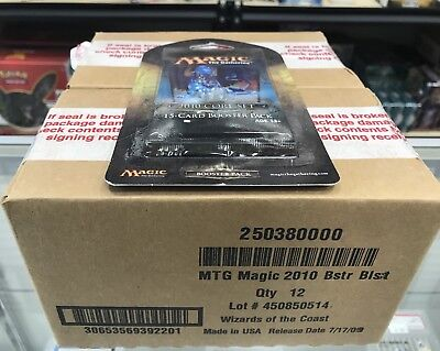 2- Magic the Gathering 2010 Core Set 15 Card Booster Pack Factory Sealed MTG Box
