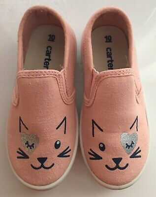 9fc04f55503d Carter s Kids Girl s Tween8 Pink Casual KITTY Slip-on Loafer - SIZE 10  Toddler