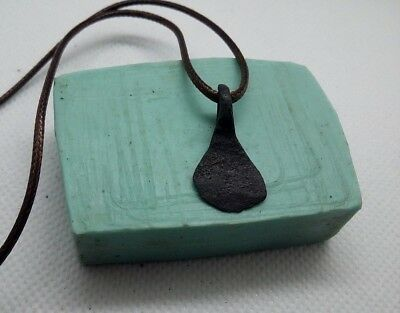Rare Perfect Ancient IRON Pendant AXE Amulet Suspension Viking 9-11 A.D #407