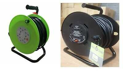 50M Pifco Heavy Duty Meter Extension Reel Lead Cable 4 Way Electric Socket Outdo