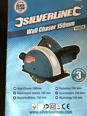 Wall Chaser Silverline 150mm