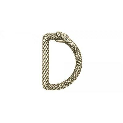 """Infinity Snake D-ring - Nickel Free - Antique Silver Finish - 1-1/2"""" (38mm)"""