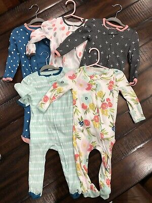 cb2ed0d5e1055 Cloud Island For Target Set Of 5 Baby Girl Inverted Zippers Sleepers 6-9  Month