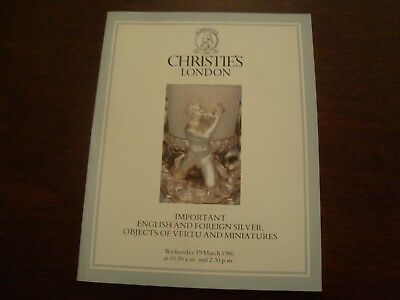 Christies English & Foreign silver, Objects of Vertu & Miniatures 1986   19/35