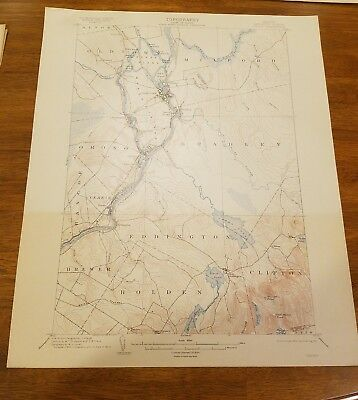 1914 Geological Survey Topography Map State Maine Penobscot County, Orono Quadra