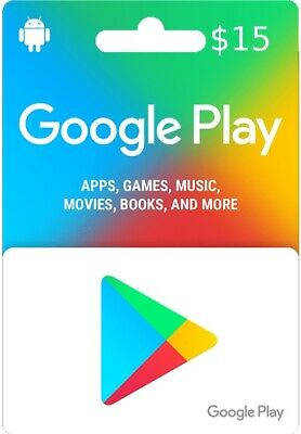 google play gift card $15 free delivery