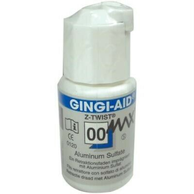 Gingi-Pak Gingi-Aid Max Z-Twist #00 Aluminium Sulfate 12170M Retraction Cord