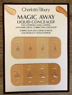 Charlotte Tilbury Magic Away Concealer Sample Card *see Description