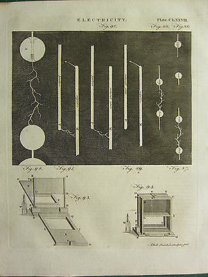 1797 Georgian Print ~ Electricity ~ Various Equipment Experiments