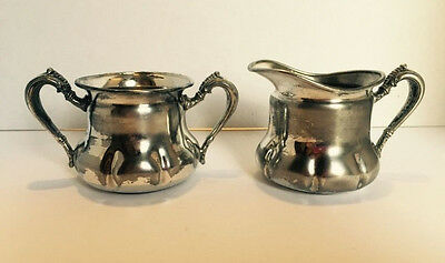 Forbes Silver Plate Quadruple 643 Sugar and Creamer Made In USA