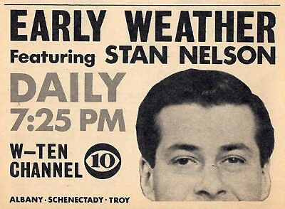 1963 WTEN TV NEWS AD~STAN NELSON~WEATHERMAN in ALBANY,NEW