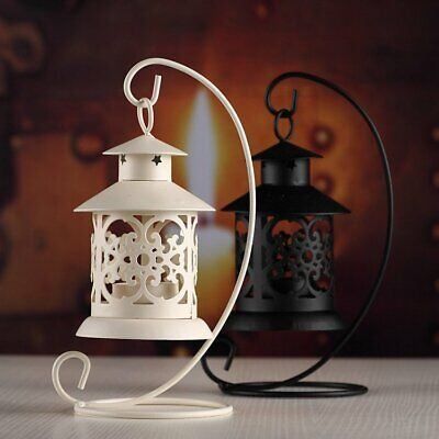New Hollow Out Birdcage Hanging Candle Holder Candlestick Lantern Home Decor UK