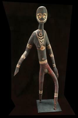 Important Old Papua New Guinea Papuan Gulf Female Kakame Spirit Figure on Stand