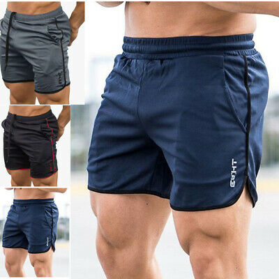 Men's GYM Shorts Training Quick Dry Sport Workout Casual Jogging Pants Trousers
