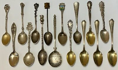 Antique & Vintage Sterling Silver Small Spoons Mixed Lot 164 Grams