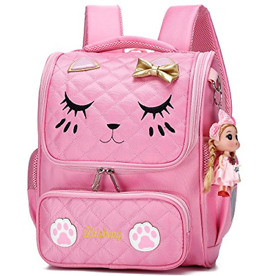 CUTE BACKPACKS FOR Girls Primary Elementary School Animal Cat Face Kids  Bookbags