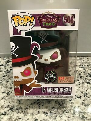 Funko Pop Dr. Facilier Masked Glow Chase GITD Box Lunch And Common Dr. F