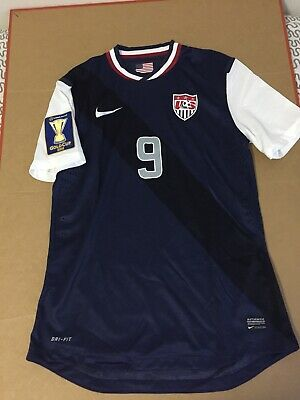 016311a05 USA Soccer Jersey Gold Cup 2013 Navy Nike Player Herculez Gomez size Large  US