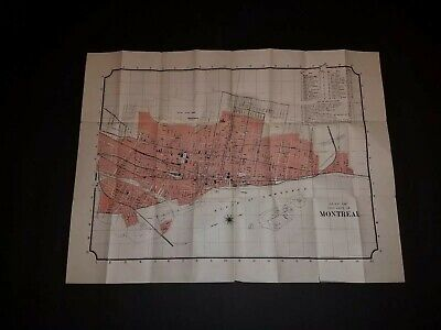 Map of Montreal 1893 International Christian Endeavor Convention