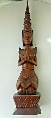 antique vintage Amazing Walnut Wood Carving Asian Sculpture figure 42cm 16inches