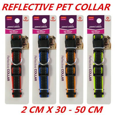 Adjustable Reflective Visibility Dog Cat Collar Pet Puppy Harness 2x30-50cm