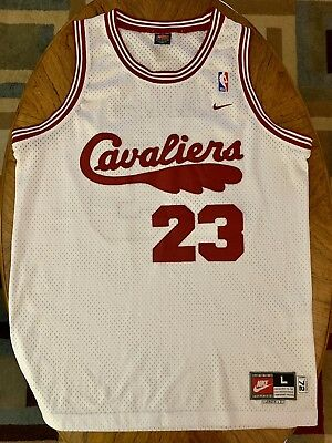 check out 0923d ec62d LEBRON JAMES CLEVELAND Cavaliers CAVS Nike Rookie Year White ...