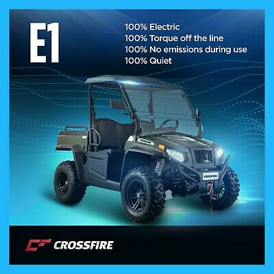 Crossfire E1 100% Electric Utility Vehicle 4x4 Winch