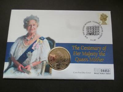 2000 The Centenary of The Queen Mother coin cover pnc featuring £5 coin.