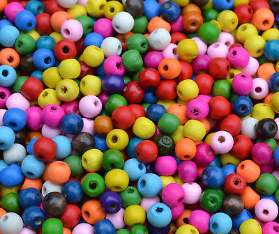 200 pcs Childrens colourful wooden beads kit**includes free threading of fun-by