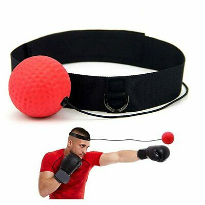 Fight Ball Head Band Boxing Training Reflex Speed Reaction Trainer Punch Gear AU