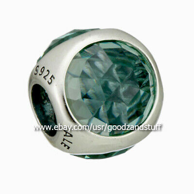 Droplet Icy Green Crystal Authentic Pandora Sterling Silver Charm 792095NIC