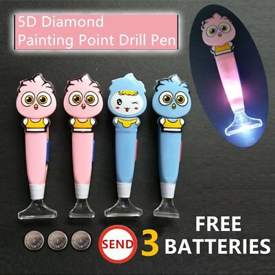 5D Diamond Painting Point Drill Pen Rhinestone Embroidery Tools With Light K2