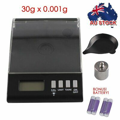 30g 0.001g Electronic Digital Scale High Precision Milligram Pocket Jewellery AA