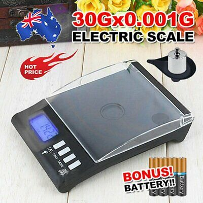 0.001g 30g High Precision Pocket Jewellery Scale Electronic Digital Milligram YY