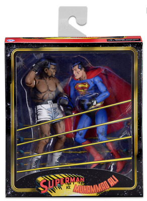 "SUPERMAN vs MUHAMMAD ALI - 7"" Scale Action Figure 2-Pack (NECA) #NEW"