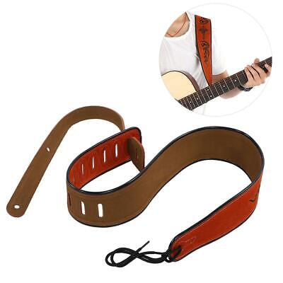 Acoustic Classic PU Leather Electric Guitar Strap Soft Basses Luxury Red Belt