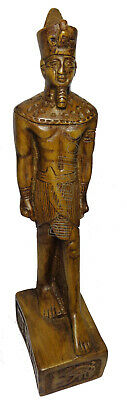"Egyptian King Ramses Pharaoh Figurine Statue Ancient Goddess 8.3"" Sculpture 201"