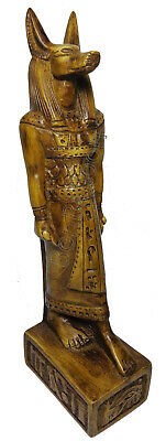 "Egyptian King Anubis Pharaoh Figurine Statue 8.3"" Ancient Goddess Sculpture 201"