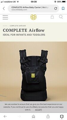 Lille Baby Carrier 6way Complete Air Flow Carrier