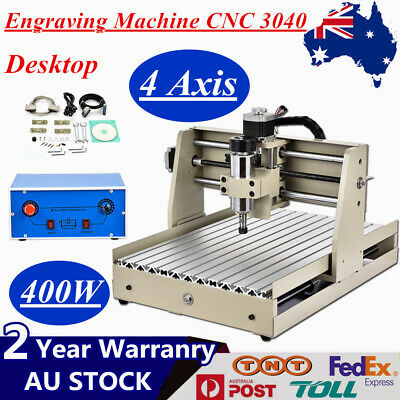 400W 4 Axis Engraving Machine CNC 3040 Router Drill Mill Carving Cutter Desktop
