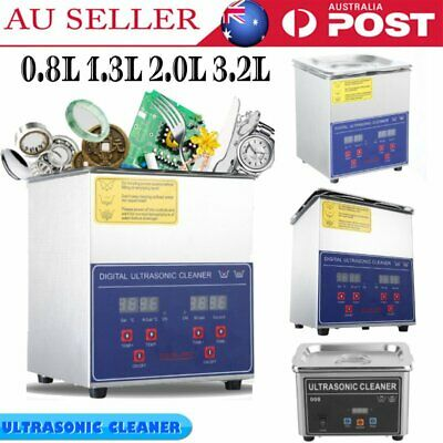 Digital Ultrasonic Cleaner Ultra Sonic Cleaning Tank Stainless Timer Heater TOP+